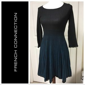 JUST IN❗️BLACK & BLUE FRENCH CONNECTION DRESS